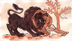 Hercule et le lion de Némée